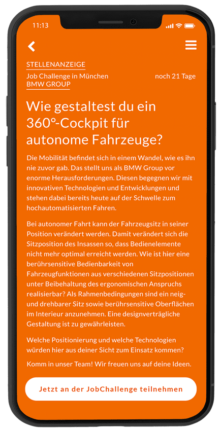 BMW Challenge Digital Cockpits