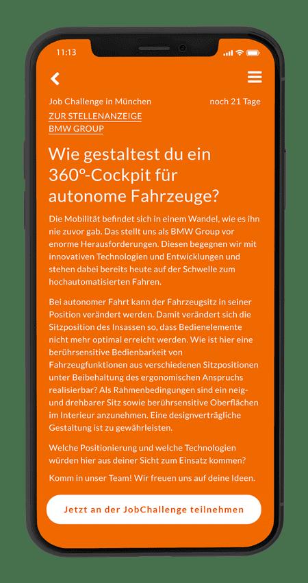 BMW Challengen mobile Ansicht