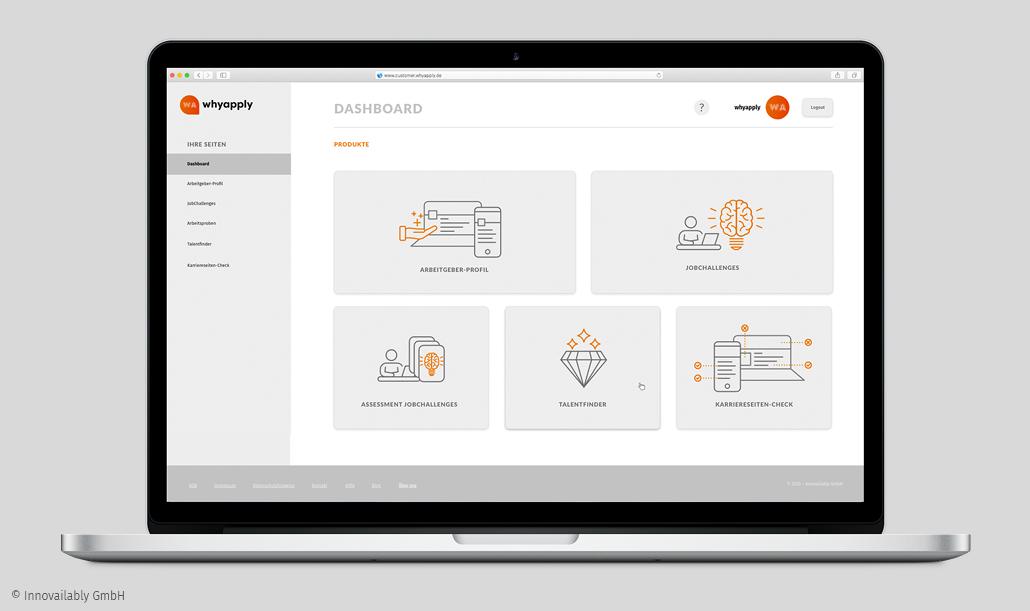 """Die interaktive Stellenanzeige finden Sie in unserem Dashboard unter """"Talentfinder"""""""