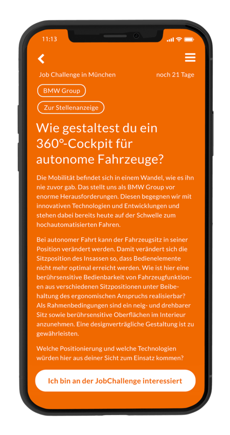 BMW-Challengeseite