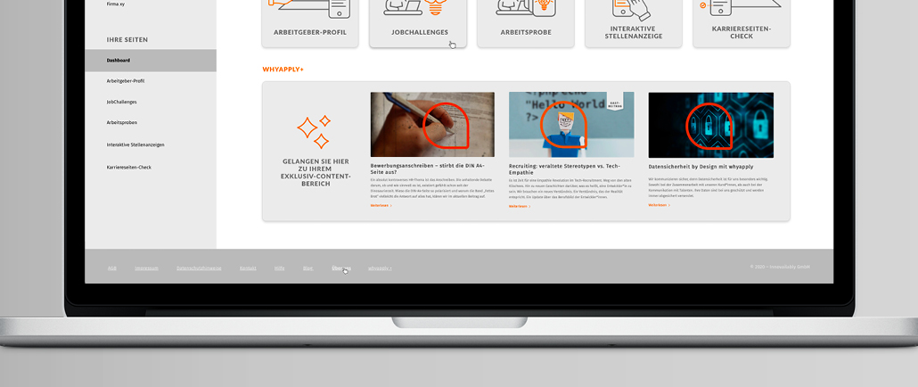 whyapply+ finden Sie in Ihrem Dashboard