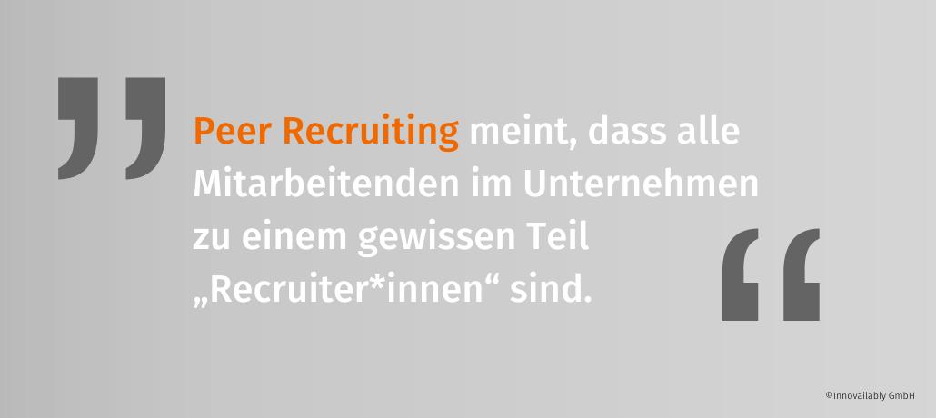 Definition Peer Recruiting