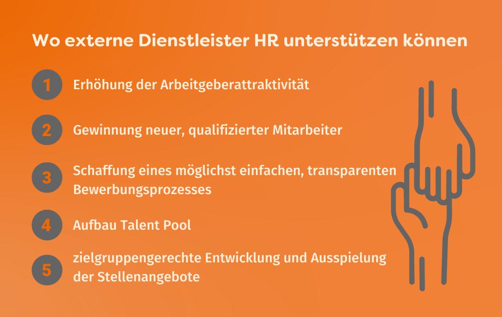 Wo externe Dienstleister HR im Personalmarketing unterstützen können